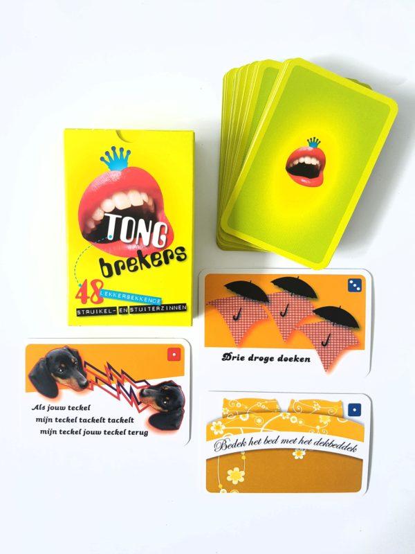 Tongbrekers-kaartjes