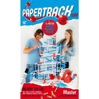 Papertrack Master 1200 Knikkerbaan van Papier