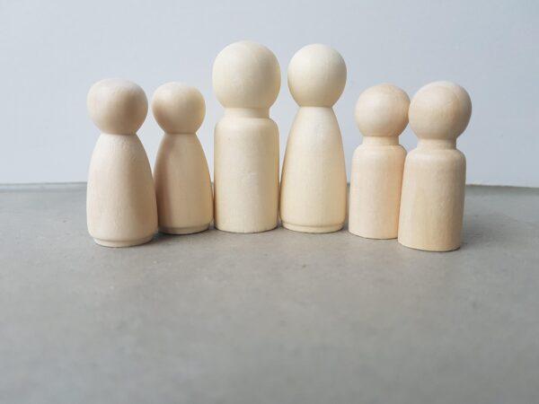 houten poppetjes gezin klein