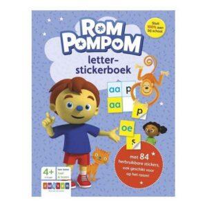 rompompom letter-stickerboek zwijsen herbruikbaar